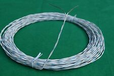 50 Ft Mil-Spec Silver Plated ETFE 22 AWG  Electrical Wire Blue/White Teflon.