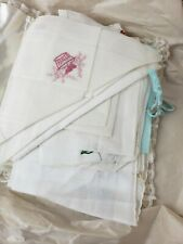 Large collection (over 30 pieces) of antique and vintage embroidery
