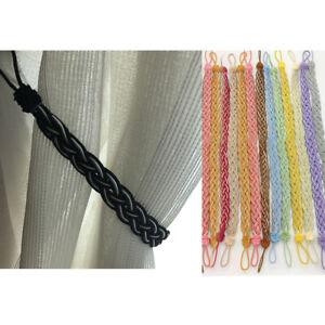 Pair Rope Curtains Tie backs Tiebacks Decorative Holdback  54 cm Tiebacks #4