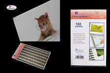 5 Sheets x 102pcs Monesta Self-adhesive Photo Corner Stickers (Clear on Brown)