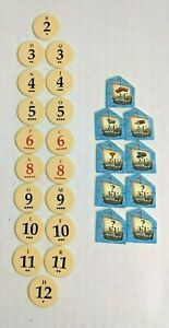 THE SETTLERS OF CATAN Replacement Parts TOKENS & HARBOR Chits FREE SHIPPING!