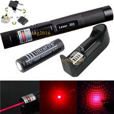 8000M Militaire Rouge Pointeur Laser 303 1mW 650NM Stylo Lumière + 1 x Batterie
