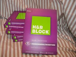 2017 H&R Block DELUXE turbo Federal & State Tax Cut New sealed CD in the BOX USA
