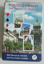 Jeu de 55 cartes à jouer, Playing Cards Kouzlo Prahy The Magic of Prague Piatnik