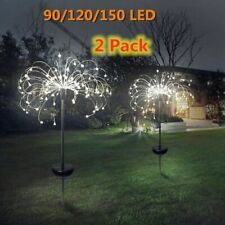 Solar Powered Fireworks Light Lawn Landscape Grass Outdoor Garden Holiday Decors