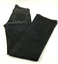 Calvin Klein Jeans Flare Dark Wash Zip Fly Black Jeans Women's Misses Size 2