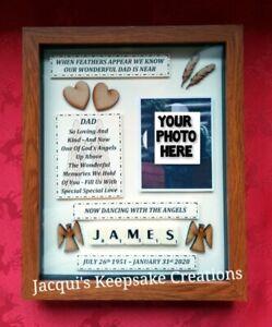MEMORIAL Picture Frame Personalised KEEPSAKE Mum Nan Grandma Dad Grandad Aunt