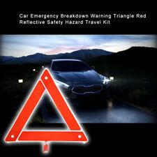 Emergency Breakdown Warning Triangle Car Red Reflective Safety Hazard Travel Kit