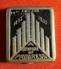 1933 CHICAGO WORLD'S FAIR A Century Of Progress Compact w1216