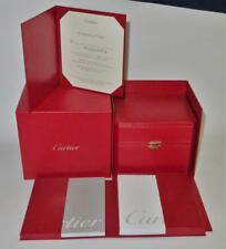 Genuine Designer CARTIER Watch Gift & Cardboard Box EMPTY, Owners Manual COA