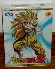 DRAGON BALL Z-BOX 2-LAS PELICULAS-4 DVD-RESTAURADA-NUEVO-MANGA-SEALED-NEW-ACCION