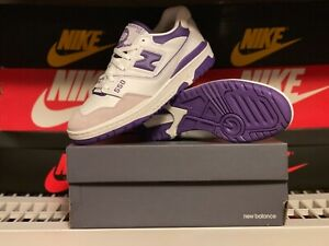 New Balance 550 White Purple Made In US Men's Size 10