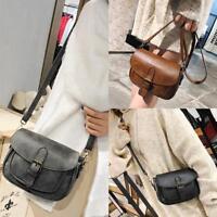 Vintage Women PU Leather Handbag Shoulder Cross Body Bag Messenger Satchel Purse