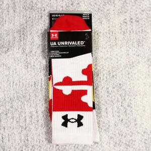 UNDER ARMOUR Ua Unrivaled Maryland Crew Socks Size L (MEN 9-12.5)