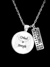 Strong Is Beautiful Clothed In Strength Proverbs 31 Woman Gift Necklace