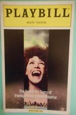 Lily Tomlin Playbill The Search for Signs of Intelligent Life in the Universe 00
