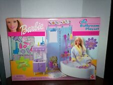Barbie All Around Home Bathroom Playset  **NIB**