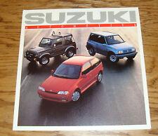 Original 1989 Suzuki Full Line Sales Brochure 87 Samurai Sidekick Swift GTi