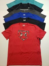 Lot of 6 Athletic Shirts Workout Shirts Under Armour Nike Reebok Mens Size XL