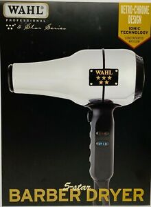Wahl #5054 5-Star Series Barber Dryer Retro-Chrome Design Concentrated Air Flow