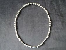 """Sterling Silver Mexico TH-31 Ball and Marquise Beaded Necklace 121 Grams 33"""""""