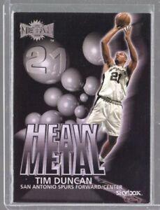 1999-00 Skybox Metal Heavy Metal Tim Duncan #H8
