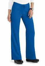 Grey's Anatomy Plus Size Womens Tie & Elastic Waist Scrub Pants Royal 3Xl Nwt