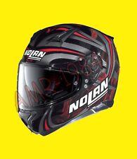 "CASCO NOLAN N87 LEDLIGHT N-COM COL. 30 Taglia ""XXL"" ROSSO - NERO"