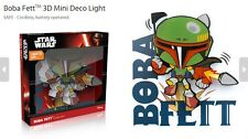 Official Star Wars Boba Fett 3D FX Deco Mini Wall Home LED Night Light