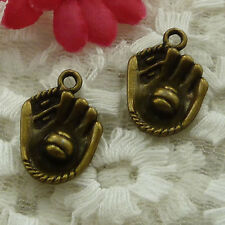 free ship 35 pieces bronze plated hand charms 21x15mm #2536