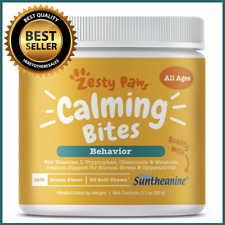 Zesty Paws Calming Bites for Cats with Suntheanine for Behavior - 60 Chews