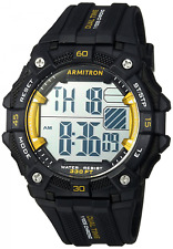 Armitron Men's Black Resin Digital Watch, 100 Meter WR, Chronograph, 40/8403YBK