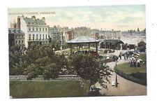 Vintage postcard Alexandria Gardens, Weymouth. Single ring cancel WOOL & duplex