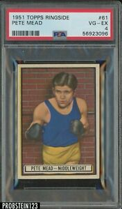 1951 Topps Ringside Boxing #61 Pete Mead PSA 4 VG-EX