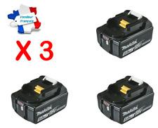 lot 3 X Batterie Originale Makita Li-Ion 18V / 5 Ah - BL1850B (témoin de charge)