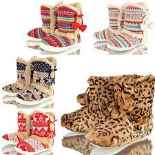 Mujer Dunlop Botas Zapatillas Cálido Para Invierno RELAX CASA Piel Sintética