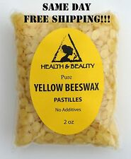YELLOW BEESWAX BEES WAX  by H&B Oils Center ORGANIC PASTILLES BEARDS PURE 2 OZ