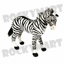 "Standing Zebra Plush 22"" inches Wildlife Wild Life Animal RM2133"