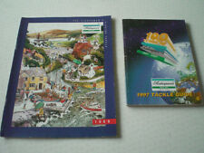 2X GOOD VINTAGE SHAKESPEARE ADVERTISING FISHING CATALOGUES 1989 AND 1997