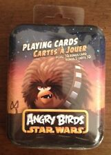 ANGRY BIRDS STAR WARS Playing Cards PLUS 3D Bonus Card In Collectible Tin NEW!