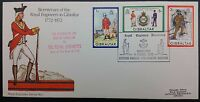 Gibraltar 1972 Royal Engineers FDC on Official Cover With Pictorial PMK