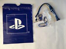 PlayStation BLUE BUNDLE - Blue Lanyard, Carabiner, Keychain, Bracelet & Blue Bag