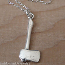 Axe Necklace - 925 Sterling Silver - Axe Charm Tool Handy Man Jewelry Lumberjack