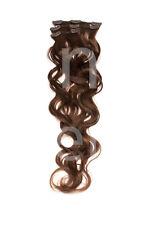 GEWELLT Echthaar Clip In Extensions Haarverlängerung 60 cm Ergänzungsset gelockt