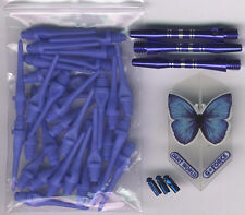 """BUTTERFLY BLISS"" Soft Tip Dart Upgrade Kit: Blue Tips, Butterfly Flights & More"