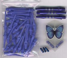 """BUTTERFLY BLISS"" Soft Tip Dart Upgrade Kit: Blue Tips, Butterfly Flights & More"