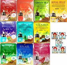 10pcs Mask Pack Facial Skin Care Malie Ultra Hydrating Essence Korean Made