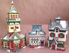 Dept 56 SANTA'S LOOKOUT TOWER, NEENEE'S, BARBER SHOP CHRISTMAS NORTH POLE BLDGS