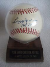 Reggie Jackson Signed Career Home Run Ball Limited Edition Of 563 - 139/563