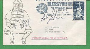 Autografato Cover Bill Scherrer 1984 Detroit Tigers Lanciatore - B0786